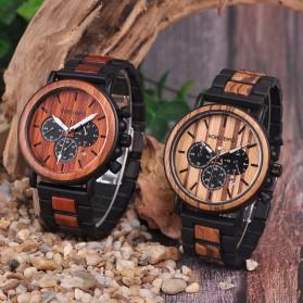 BOBO BIRD Jam Tangan Kayu Chrono Pria - WP09 - Black - 6