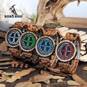 BOBO BIRD Jam Tangan Kayu LED Pria - P13 - White - 6