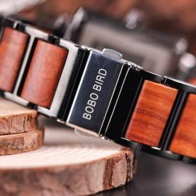 BOBO BIRD Jam Tangan Kayu Seiko Movement Model Kotak - R14 - Brown - 5