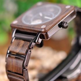 BOBO BIRD Jam Tangan Kayu Seiko Movement Model Kotak - R14 - Brown - 6