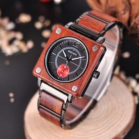 BOBO BIRD Jam Tangan Kayu Seiko Movement Model Kotak - R14 - Brown - 9