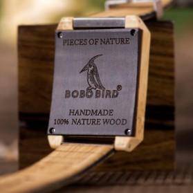 BOBO BIRD Jam Tangan Kayu Natural Bamboo Square Design - Q25 - Brown - 3