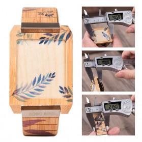 BOBO BIRD Jam Tangan Kayu Natural Bamboo Square Design - Q25 - Brown - 7