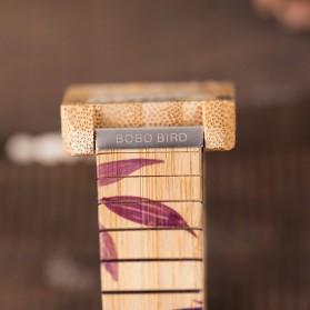 BOBO BIRD Jam Tangan Kayu Natural Bamboo Square Design - Q25 - Brown - 8