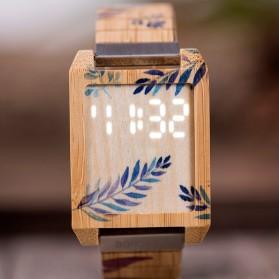 BOBO BIRD Jam Tangan Kayu Natural Bamboo Square Design - Q25 - Brown - 9