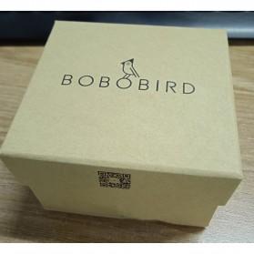 BOBO BIRD Jam Tangan Kayu Leather Strap - WP28 - Black/Silver - 10