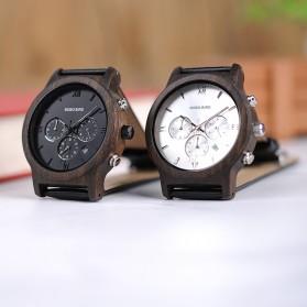 BOBO BIRD Jam Tangan Kayu Leather Strap - WP28 - Black/Silver - 8