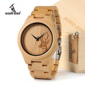 BOBO BIRD Jam Tangan Bambu Analog Pria - D28 - Brown