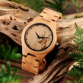 BOBO BIRD Jam Tangan Bambu Analog Pria - D28 - Brown - 4