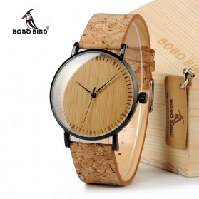 BOBO BIRD Jam Tangan Etnik Analog Pria - E19 - Brown