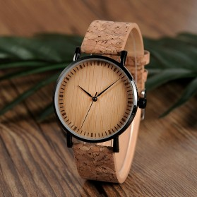 BOBO BIRD Jam Tangan Etnik Analog Pria - E19 - Brown - 2