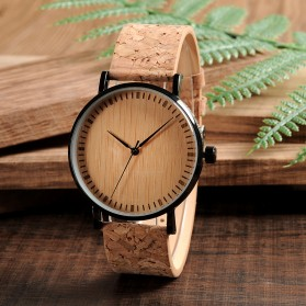 BOBO BIRD Jam Tangan Etnik Analog Pria - E19 - Brown - 4