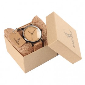 BOBO BIRD Jam Tangan Etnik Analog Pria - E19 - Brown - 5