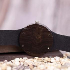 BOBO BIRD Jam Tangan Kayu Leather Strap - Q17 - Black - 7