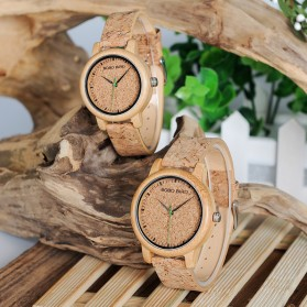 BOBO BIRD Jam Tangan Kayu Timepiece Handmade Analog Wanita - M12 - Brown - 4