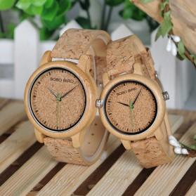 BOBO BIRD Jam Tangan Kayu Timepiece Handmade Analog Wanita - M12 - Brown - 5