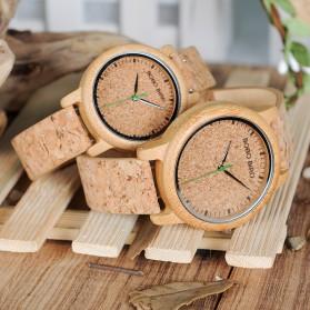 BOBO BIRD Jam Tangan Kayu Timepiece Handmade Analog Wanita - M12 - Brown - 6