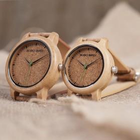 BOBO BIRD Jam Tangan Kayu Timepiece Handmade Analog Wanita - M12 - Brown - 7