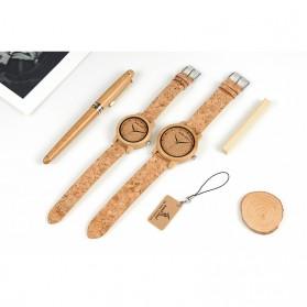 BOBO BIRD Jam Tangan Kayu Timepiece Handmade Analog Wanita - M12 - Brown - 8
