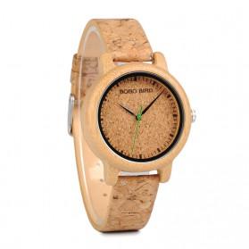 BOBO BIRD Jam Tangan Kayu Timepiece Handmade Analog Wanita - M12 - Brown - 2