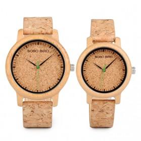 BOBO BIRD Jam Tangan Kayu Timepiece Handmade Analog Wanita - M12 - Brown - 3