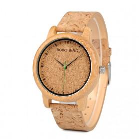BOBO BIRD Jam Tangan Kayu Timepiece Handmade Analog Pria - M11 - Brown