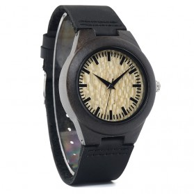 BOBO BIRD Jam Tangan Kayu Ebony Wanita Luxury Wooden Watch - E27 - Black - 2
