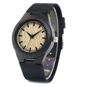 BOBO BIRD Jam Tangan Kayu Ebony Wanita Luxury Wooden Watch - E27 - Black - 3