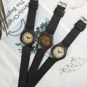 BOBO BIRD Jam Tangan Kayu Ebony Wanita Luxury Wooden Watch - E27 - Black - 7
