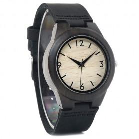 BOBO BIRD Jam Tangan Kayu Ebony Wanita Luxury Wooden Watch - E28 - Black - 2