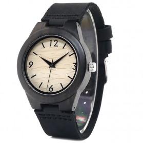 BOBO BIRD Jam Tangan Kayu Ebony Wanita Luxury Wooden Watch - E28 - Black - 3
