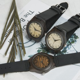 BOBO BIRD Jam Tangan Kayu Ebony Wanita Luxury Wooden Watch - E28 - Black - 4