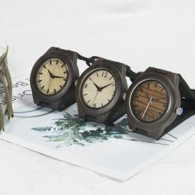 BOBO BIRD Jam Tangan Kayu Ebony Wanita Luxury Wooden Watch - E28 - Black - 5