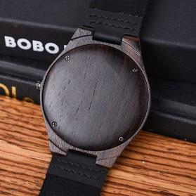 BOBO BIRD Jam Tangan Kayu Analog Pria - S10-4 - Black - 4