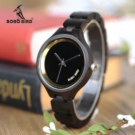 BOBO BIRD Jam Tangan Analog Wanita Bamboo Band - P16-1 - Black