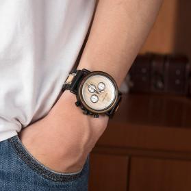 BOBO BIRD Jam Tangan Analog Pria Bamboo Watch - S18 - Black - 10