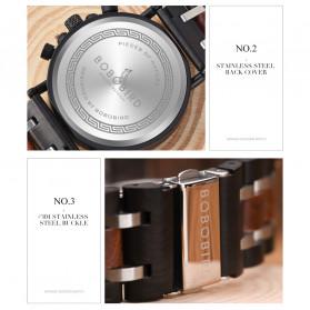 BOBO BIRD Jam Tangan Analog Pria Bamboo Watch - S18 - Black - 11