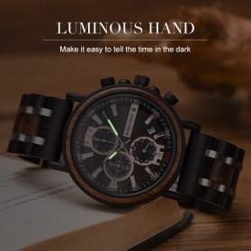BOBO BIRD Jam Tangan Analog Pria Bamboo Watch - S18 - Black - 2