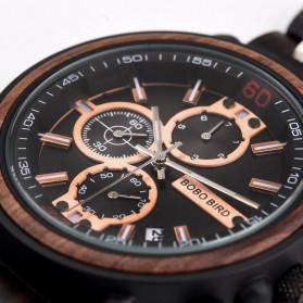 BOBO BIRD Jam Tangan Analog Pria Bamboo Watch - S18 - Black - 3