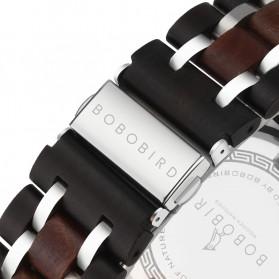 BOBO BIRD Jam Tangan Analog Pria Bamboo Watch - S18 - Black - 4