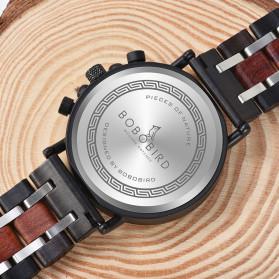 BOBO BIRD Jam Tangan Analog Pria Bamboo Watch - S18 - Black - 5