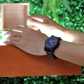 BOBO BIRD Jam Tangan Digital Analog Pria Bamboo Watch - R02 - Brown - 4