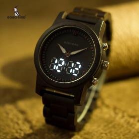 BOBO BIRD Jam Tangan Digital Analog Pria Bamboo Watch - R02 - Brown - 6