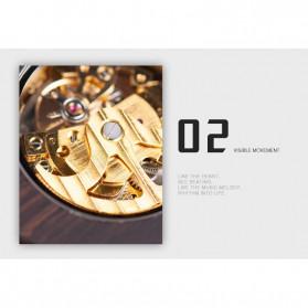 BOBO BIRD Jam Tangan Analog Pria Bamboo Mechanical Watch - R05 - Brown/Red - 10