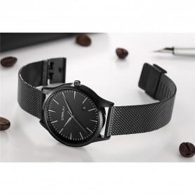 CRRJU Jam Tangan Analog Pria Stainless Steel - CJ-2135 - Black/Black - 6
