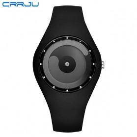 CRRJU Jam Tangan Analog Pria Strap Silicone - 2136 - Black/Gray