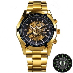 Watch Band - Forsining Jam Tangan Mechanical Luxury Pria - SLZ56 - Black Gold