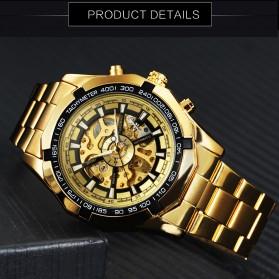 Forsining Jam Tangan Mechanical Luxury Pria - SLZ56 - Black Gold - 2