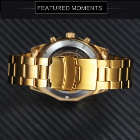 Forsining Jam Tangan Mechanical Luxury Pria - SLZ56 - Black Gold - 4