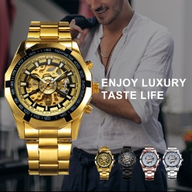 Forsining Jam Tangan Mechanical Luxury Pria - SLZ56 - Black Gold - 6